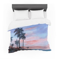 "Rosie Brown ""Florida Sunset"" Palm Tree Featherweight Duvet Cover"