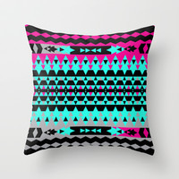 Mix #508 Throw Pillow by Ornaart