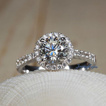 Goldia Sterling Silver Light Blue Round W//Pave Sides Synthetic Cz Ring