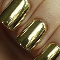 Golden Nail Foils - http://www.modicure.com/nail-applique/solids/gold-nail-wraps.html