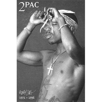 2pac Smoking Poster