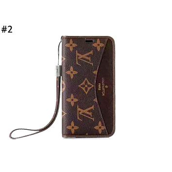 LV tide brand anti-fall flip holster iphone xs mobile phone case cover #2