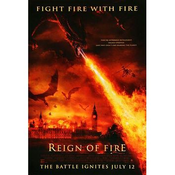 Reign Of Fire Movie Poster Wall Decor Art 11 inch x 17 inch