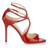Red Patent Leather Strappy Sandals | Lang | Autumn Winter 14 | JIMMY CHOO Shoes