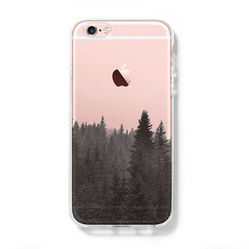 Forest Fog iPhone 6s Clear Case iPhone 6 plus Cover iPhone 5S 5 5C Hard Transparent Case C0004