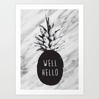 Well Hello Art Print by Cafelab