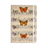 """Suzanne Carter """"Butterfly Opera"""" Music Tan Everything Notebook"""