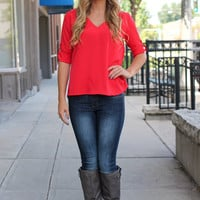 Madame Paris Blouse - Red