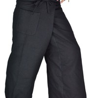 Fisherman Plus Size Pants Cotton Unisex for Casaul and Lounging
