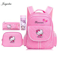 New Arrival Hello Kitty Girl Backpack School Bags Children Gift For New Term