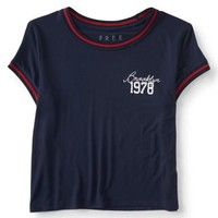 Free State Brooklyn 1978 Cropped Baby Tee - Aeropostale