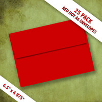 A6 Size RED HOT Envelopes   Pack of 25