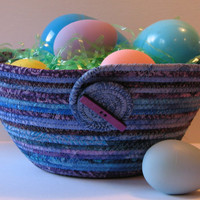 Coiled Fabric Basket, Bowl, Easter Basket, $22