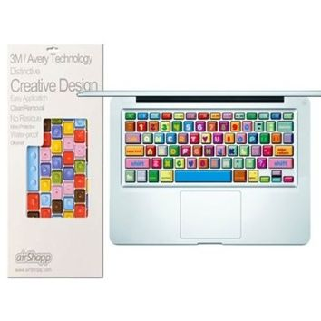 airShopp Keyboard Protective Art Decal Stickers For 13 15 17 Inch MacBook, MacBook Pro, MacBook Air & Apple Keyboard Without Numeric Keypad -- (BubbleGum)