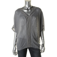 Fluxus Womens Knit Contrast Trim Pullover Sweater