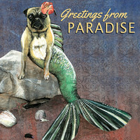 "Mer-Pug ""Greetings from Paradise"" Postcard - Set of Ten"