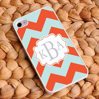Personalized Chevron iphone covers - Tangerine Sky 4