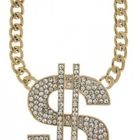 Chunky Dollar Sign Necklace