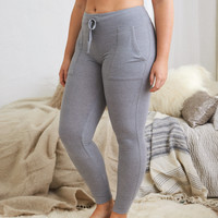 Aerie Plush Sleep Legging, Medium Heather