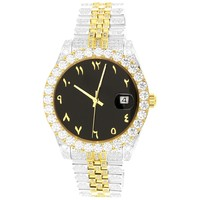 Presidential 40mm Two-Tone Gold Arabic Dial Band Watch