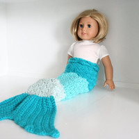 """Doll mermaid tail, mermaid tail for 18"""" dolls, ombre mermaid tail, mermaid costume for dolls, American Girl Doll Clothes"""