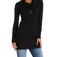 Cowl Neck Tunic Sweater by Charlotte Russe