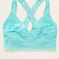 Aerie Lace Cross-Back Bralette , Royal Navy | Aerie for American Eagle