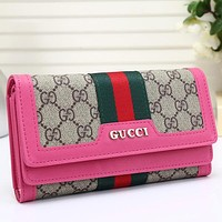 Women Leather Buckle Purse Wallet