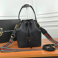 prada women leather shoulder bags satchel tote bag handbag shopping leather tote crossbody 279