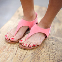 Walk In Her Shoes Sandals: Coral   Hope's