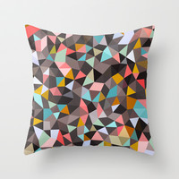 Java House Tris Throw Pillow by Beth Thompson