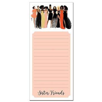 Sister Friends African American Notepad