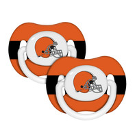 Baby Fanatic 2-Pack Pacifiers - Cleveland Browns