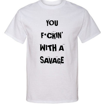 """Demi Lovato """"Sorry Not Sorry / You F*ckin' With a Savage"""" T-Shirt"""