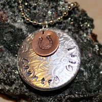 Country Girl / Cowgirl Custom Hand Stamped Necklace by Korena Loves