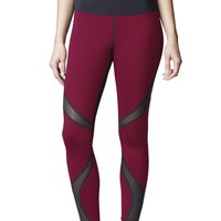 Michi Quasar Legging- Shiraz Red | High Performance Leggings