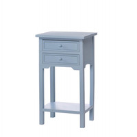 Two Drawer Wood Side Table