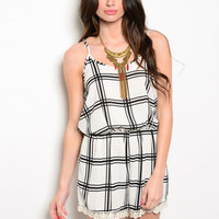 Checkmate Romper - Lucky Duck Boutique