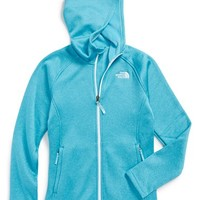 The North Face Girl's 'Agave' Hardface Fleece Hooded Jacket,