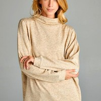 french terry turtleneck top