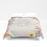 Fall Duvet Cover by sylviacookphotography