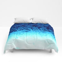 Blue Crystal Ombre Comforters by 2sweet4words Designs