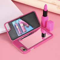 FLOVEME Stylish Chic With Mirror Case for iPhone 6 6s for iPhone 6 Plus 6s Plus Card Holders Luxury Hard Flip Women Cover Coque