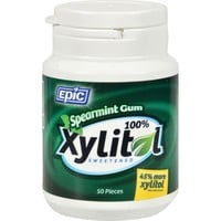 Epic Dental Xylitol Sweetened Gum Spearmint - 50 Pieces