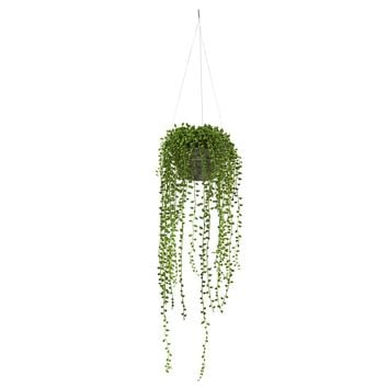 Artificial Plant -String of Pearl Plant Hanging Basket