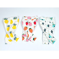 2016 NEW Autumn! Baby Girls Boys Pants Cotton Harem Pants Fruits Character Printed Pants Toddler Children Kids Clothes Trousers
