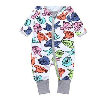 Baby Clothing born Boy Girl Slippers Clothes With A Long Sleeve deer cartoon Infant baby jumper