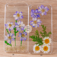 Pressed Flower Daisy iPhone 6 case iPhone 6 plus iPhone 5 case, iPhone 4s case, iPhone 5s case iPhone 5c case Galaxy S4 S5 Note 3, R-00001