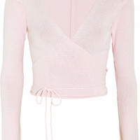 Ballet Beautiful - Belle wrap-front knitted jersey top