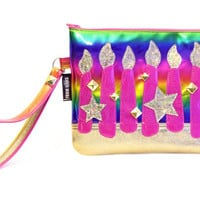 Birthday Wish! Zipper Clutch Bag With Wristlet | Fantasy Purse | Geek Chic
